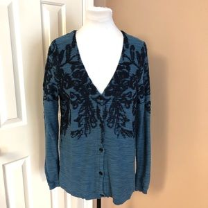 Anthropologie Moth Embroidered Cardigan